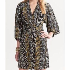 Banana Republic Issa Collection Zebra Dress-Sz 12